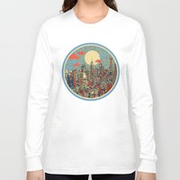 shipping Long Sleeve T-shirts featuring philadelphia by Bekim ART