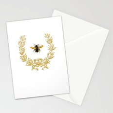 French Bee acorn wreath Stationery Cards