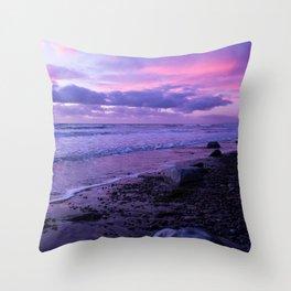 Scenic ocean sunset in Carlsbad California Throw Pillow