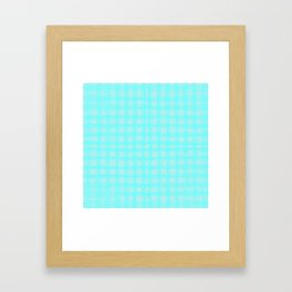 woven cables, blue Framed Art Print