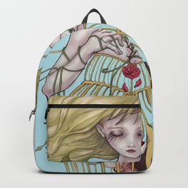 Mother Mary & Two Lover Birds Backpack