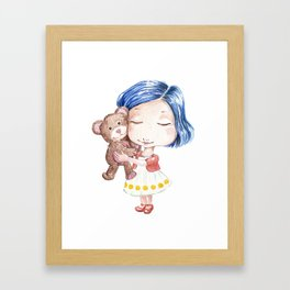 Hug a Bear Framed Art Print