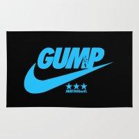 forrest gump Area & Throw Rugs featuring Gump- JustDoIt IV by IIIIHiveIIII