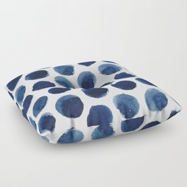 Watercolor polka dots Floor Pillow