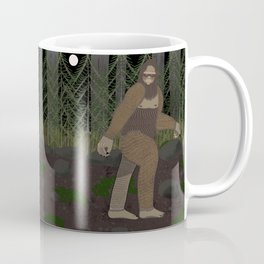 Bigfoot in the Forest Coffee Mug
