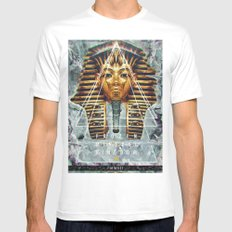 MYSTIC//PHARAOH Mens Fitted Tee White MEDIUM