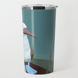 Blue-footed Booby in the wild. Travel Mug