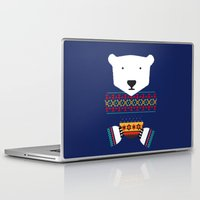 polar bear Laptop & iPad Skins featuring Polar Bear by Marco Recuero