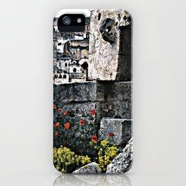 Sassi di Matera: stones and flowers iPhone Case