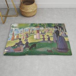 """Un dimanche après-midi à l'île de la Grande Jatte """"A Sunday on La Grande Jatte"""" Georges Seurat, 1886 Rug"""