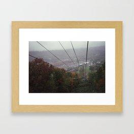 from the ski lift at oktoberfest Framed Art Print