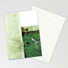 White Green Concrete Stationery Cards