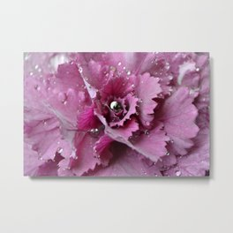 silver and pink  Metal Print