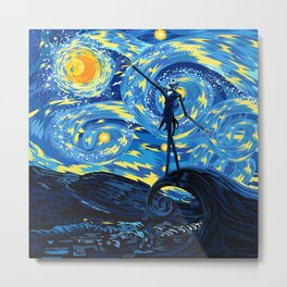 Jack Starry night iPhone 4 5 6 7 8, pillow case, mugs and tshirt Metal Print