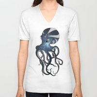goddess V-neck T-shirts featuring Goddess by Janss