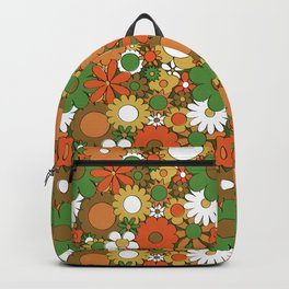 Funky Daisy Floral in Harvest Backpack