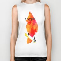 carpe Biker Tanks featuring Punk bird by Robert Farkas