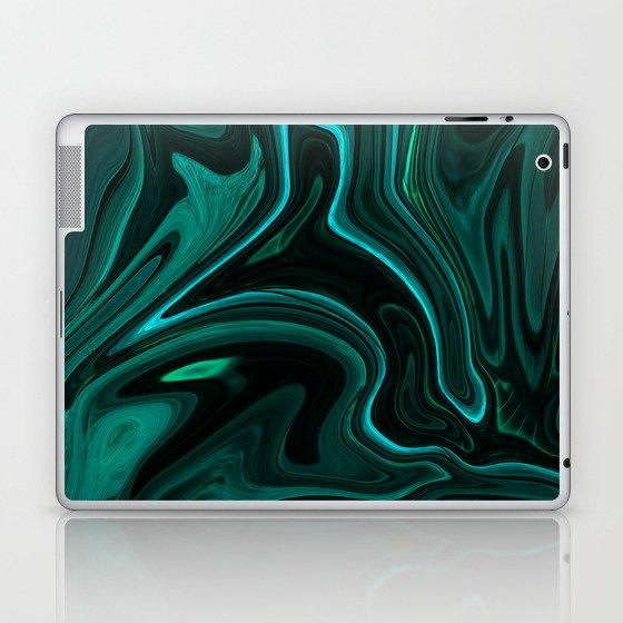 Teal Liquefy Pattern Laptop & iPad Skin