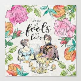 Pride and Prejudice - Fools in Love Canvas Print