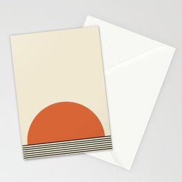 Sunrise / Sunset - Orange & Black Stationery Cards