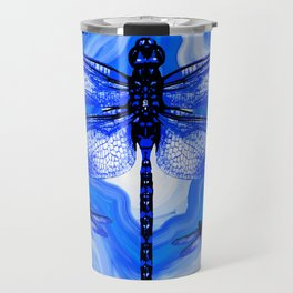 DRAGONFLY BLUE AGATE Travel Mug