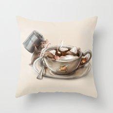 Pumpkin Spice Latte Throw Pillow