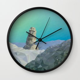 This is Not Easter Island Wall Clock