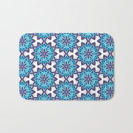 Beautiful Blue and Purple Beadwork Inspired Print Bath Mat