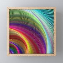 Vortex of colors Framed Mini Art Print
