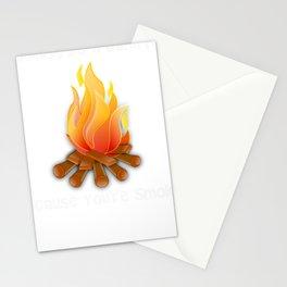 Campfire Smokin Funny Bonfire Stationery Cards