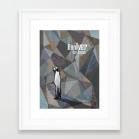 bon iver Framed Art Prints featuring Bon Iver by Kat Gifford