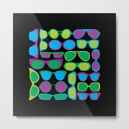 Sunglasses Pattern in Cool Colors Metal Print