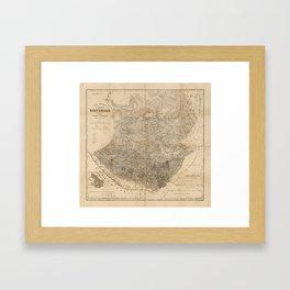 Vintage Map of Guatemala (1859) Framed Art Print