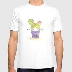 the secret wish of a cactus MEDIUM White Mens Fitted Tee