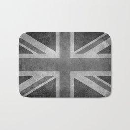 England Union Jack flag scale 1:2 Retro Style B&W Bath Mat