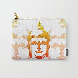 Buddha Head Illustration orange Carry-All Pouch