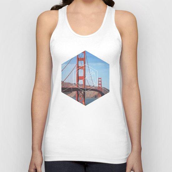 Golden Gate Bridge - Geometric Photography Unisex Tank Top