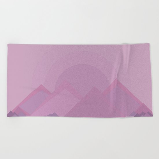 The lilac hills Beach Towel