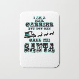 Mail Carrier Funny Gift I Santa Christmas Costume Bath Mat