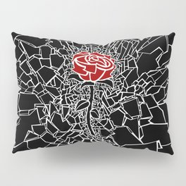 The Shattered Rose Pillow Sham