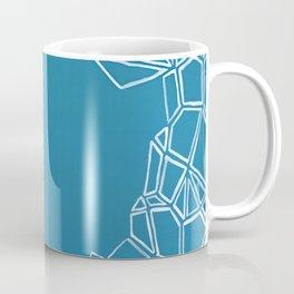 Fractal Glacier Negative Space Coffee Mug