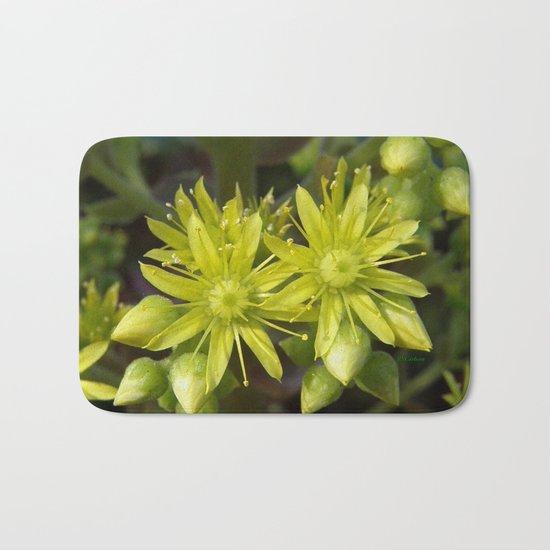 Blooming Green Bath Mat
