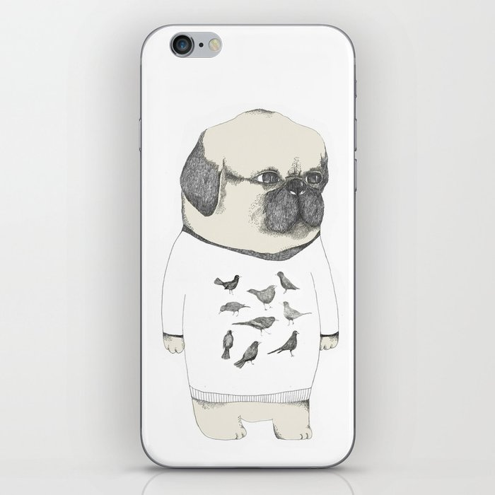kinotto pug iPhone Skin