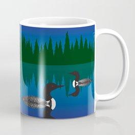 Loons in a Woodland Lake Coffee Mug