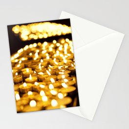 Prayer Candles in Church, Israel Stationery Cards