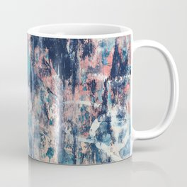 029: a vibrant abstract design in blue teal pink and peach by Alyssa Hamilton Art Coffee Mug