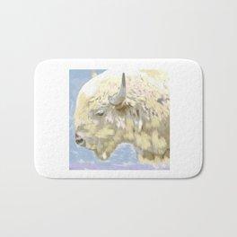 White buffalo calf Bath Mat