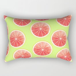 Pink Grapefruit Slices Pattern Rectangular Pillow