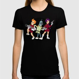 Nimbus Crew: Leela, Fry and Bender T-shirt