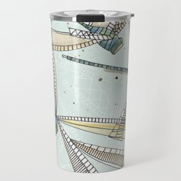 watercolor dragonflies Travel Mug